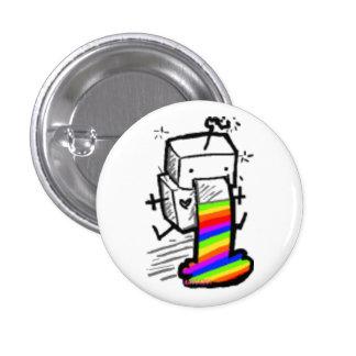 robot rainbow button