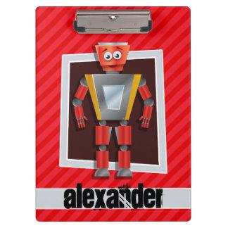 Robot; Rayas del rojo del escarlata