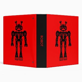 Robot - Red (1.5in) Binder