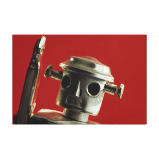 Robot Red on Canvas Canvas Prints