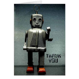 Robot Red Shoes Card
