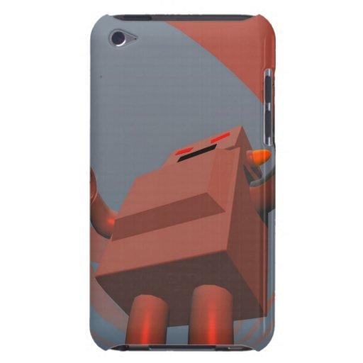 Robot retro 3 del estilo barely there iPod protector