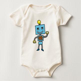 Robot retro del azul del dibujo animado mameluco