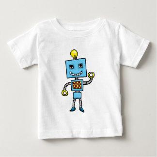Robot retro del azul del dibujo animado remeras