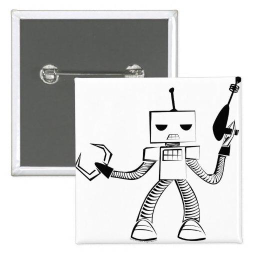 Robot retro del botón de condenación pin