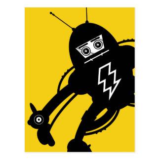 Robot retro del gigante de la ciencia ficción tarjetas postales