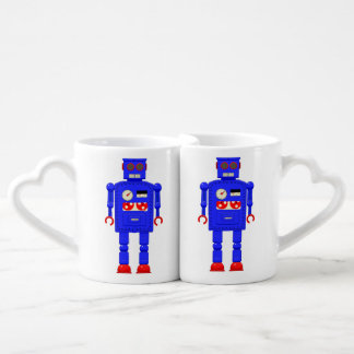 Robot retro del juguete del vintage set de tazas de café