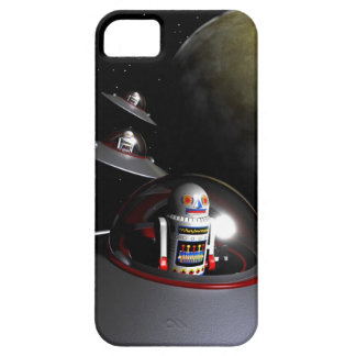 Robot retro número 7 del juguete iPhone 5 Case-Mate cárcasas