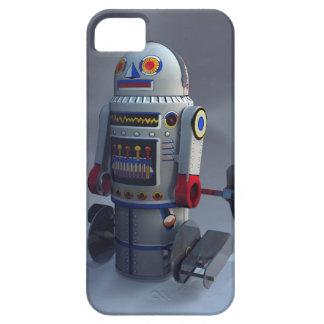 Robot retro número 7 del juguete iPhone 5 carcasa
