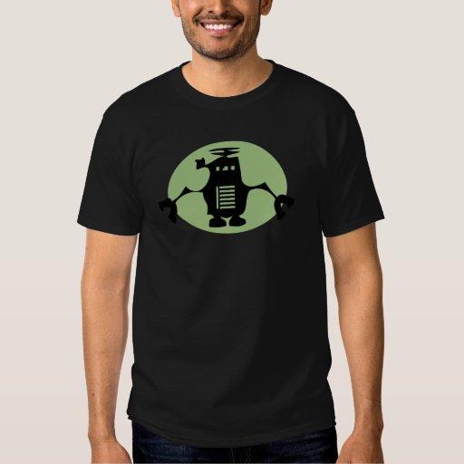 Robot retro - proyector verde remeras