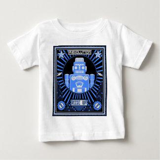 Robot Revolt Blue Baby T-Shirt