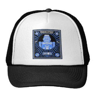 Robot Revolt Blue Trucker Hat