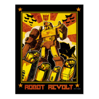 Robot Revolt Postcard