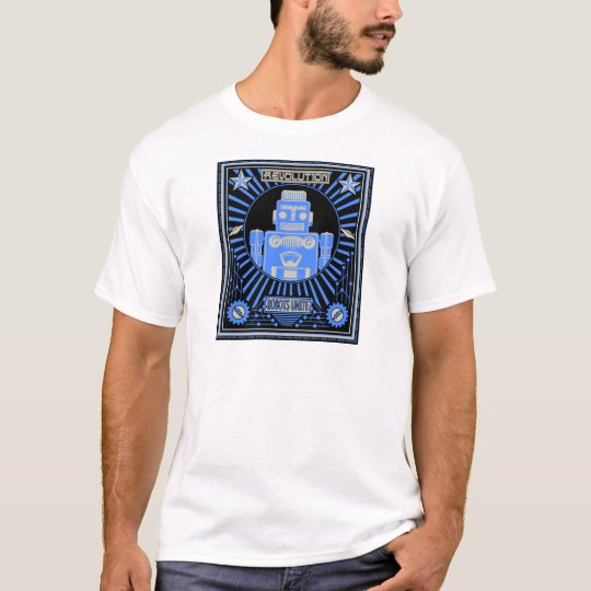 Robot Revolution Blue T-Shirt