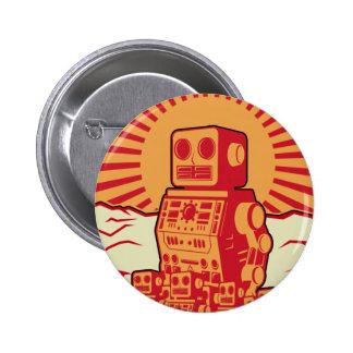Robot Revolution Pinback Button