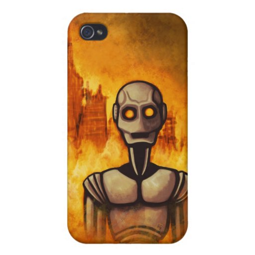 robot revolution scifi iPhone case Covers For iPhone 4