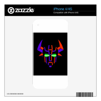 ROBOT RODEO Black Style Decal For The iPhone 4