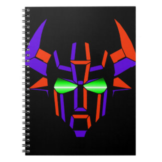 ROBOT RODEO Black Style Spiral Notebook