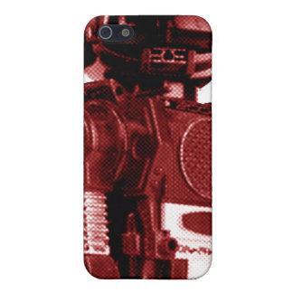 Robot rojo iPhone 5 protector