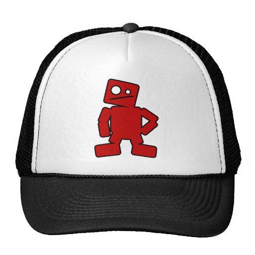 Robot rojo gorro de camionero