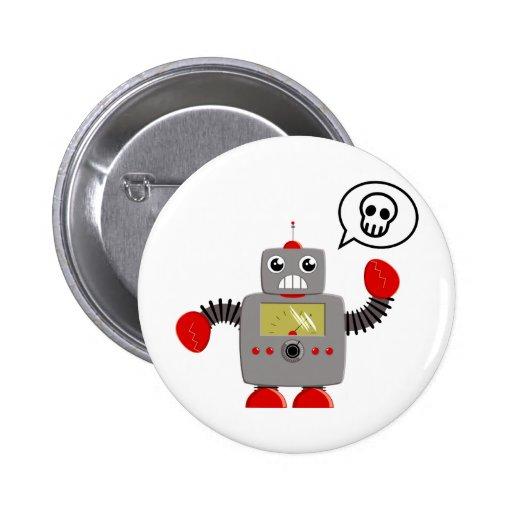 Robot rojo retro de la garra pins