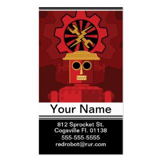 Robot rojo tarjeta de visita
