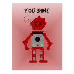 Robot rojo - usted brillo postal