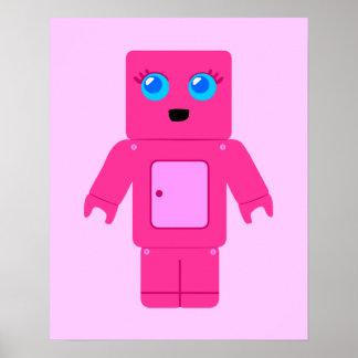 Robot rosado posters