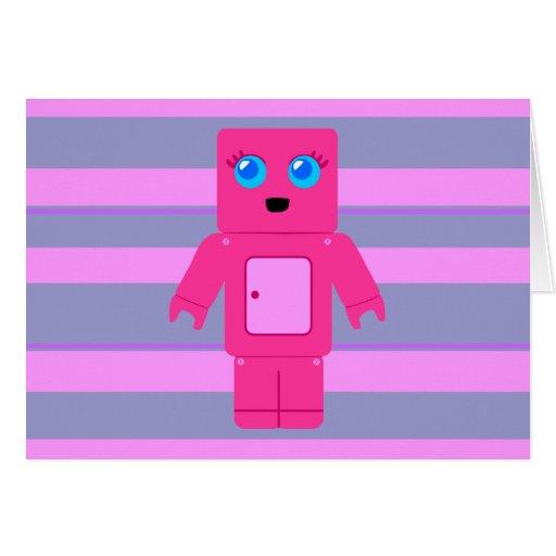 Robot rosado tarjetón