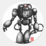 Robot Round Sticker