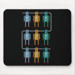 Robot Row Assimilated Mouse Pad