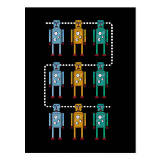 Robot Row Assimilated Postcard