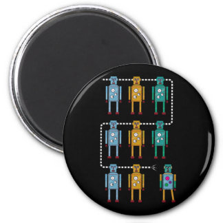 Robot Row Resistance 2 Inch Round Magnet
