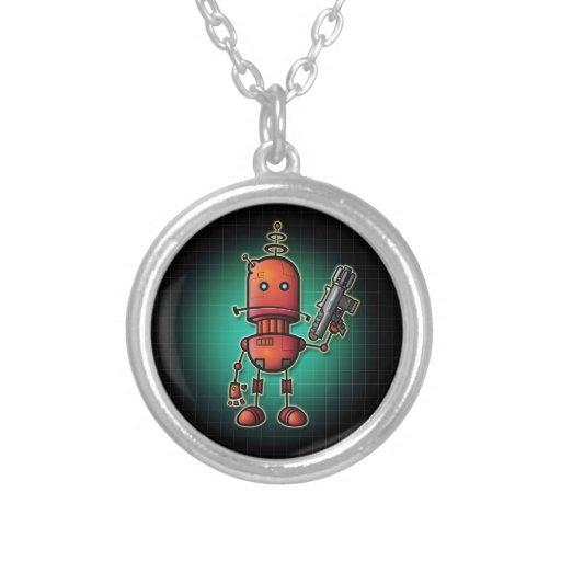 Robot Sam necklace