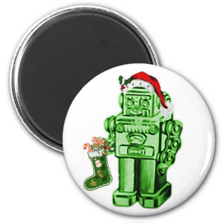 robot santa magnet