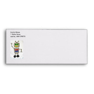 Robot Says Hi Envelopes