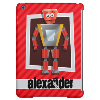 Robot; Scarlet Red Stripes Cover For iPad Air