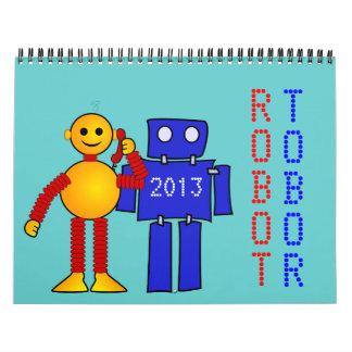 Robot sci-fi cartoon fun science fiction wall calendars