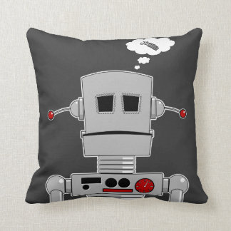 Robot Screw Throw Pillow