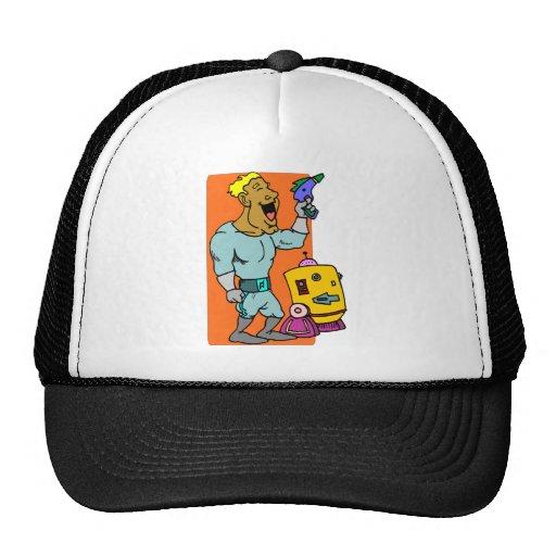 Robot sidekick trucker hats