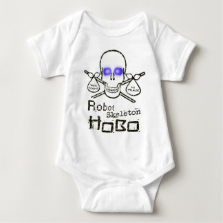 Robot Skeleton Hobo Baby Bodysuit