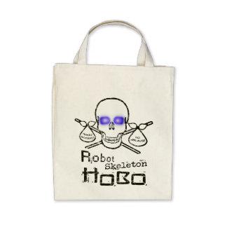 Robot Skeleton Hobo Canvas Bag