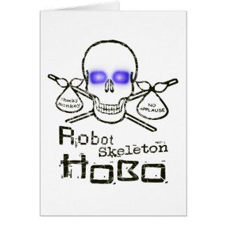Robot Skeleton Hobo Greeting Cards