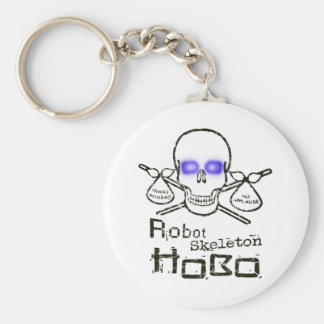 Robot Skeleton Hobo Keychain