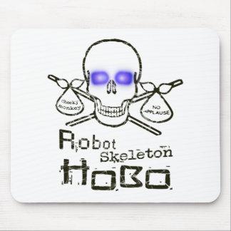 Robot Skeleton Hobo Mouse Pad