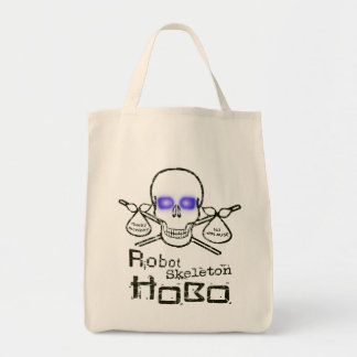 Robot Skeleton Hobo Tote Bag