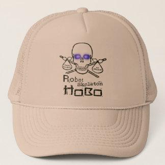 Robot Skeleton Hobo Trucker Hat