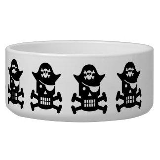 Robot Skull & Crossbones Pirate Silhouette Bowl