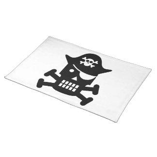 Robot Skull Crossbones Pirate Silhouette Place Mats