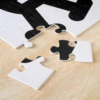 Robot Skull Crossbones Pirate Silhouette Jigsaw Puzzle